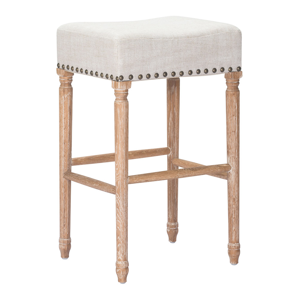 Zuo Era Anaheim Oak Barstool in Beige | Boost Home