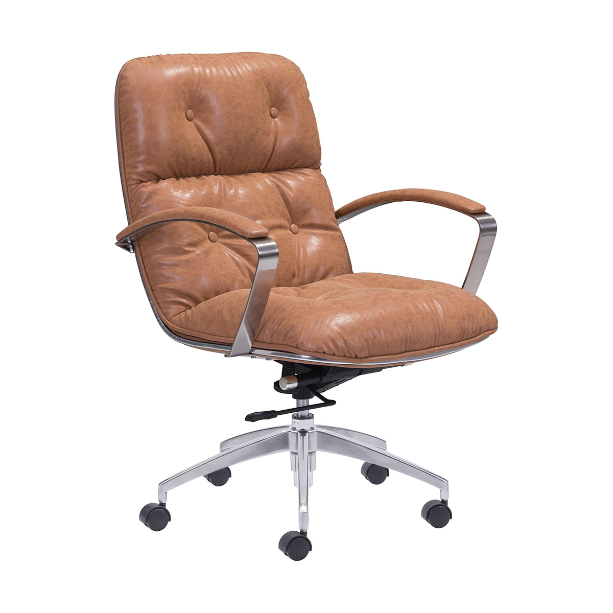 Zuo Era Avenue Office Chair Vintage In Coffee Boost Home