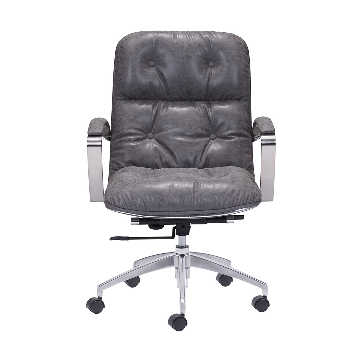 Zuo Era Avenue Office Chair Vintage In Gray Boost Home