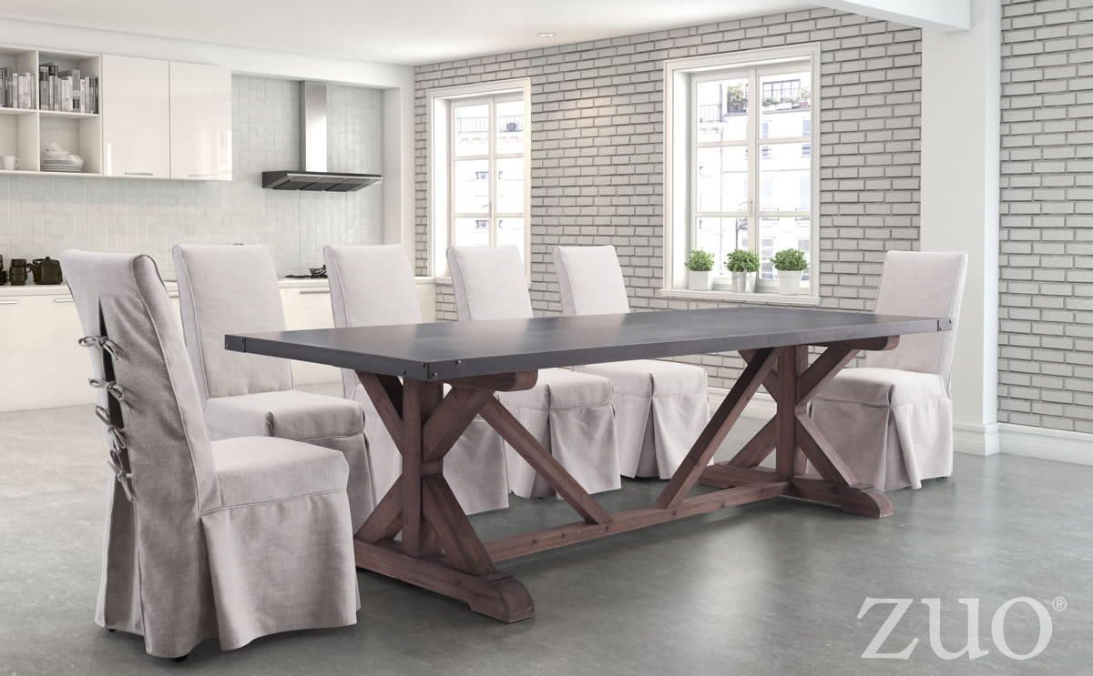 Zuo Era Durham Dining Table In Gray Amp Distressed Fir