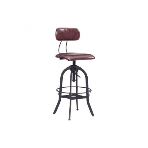 Zuo-Era-Gering-Bar-Chair-Burgundy-&-Antique-Black-100442-1