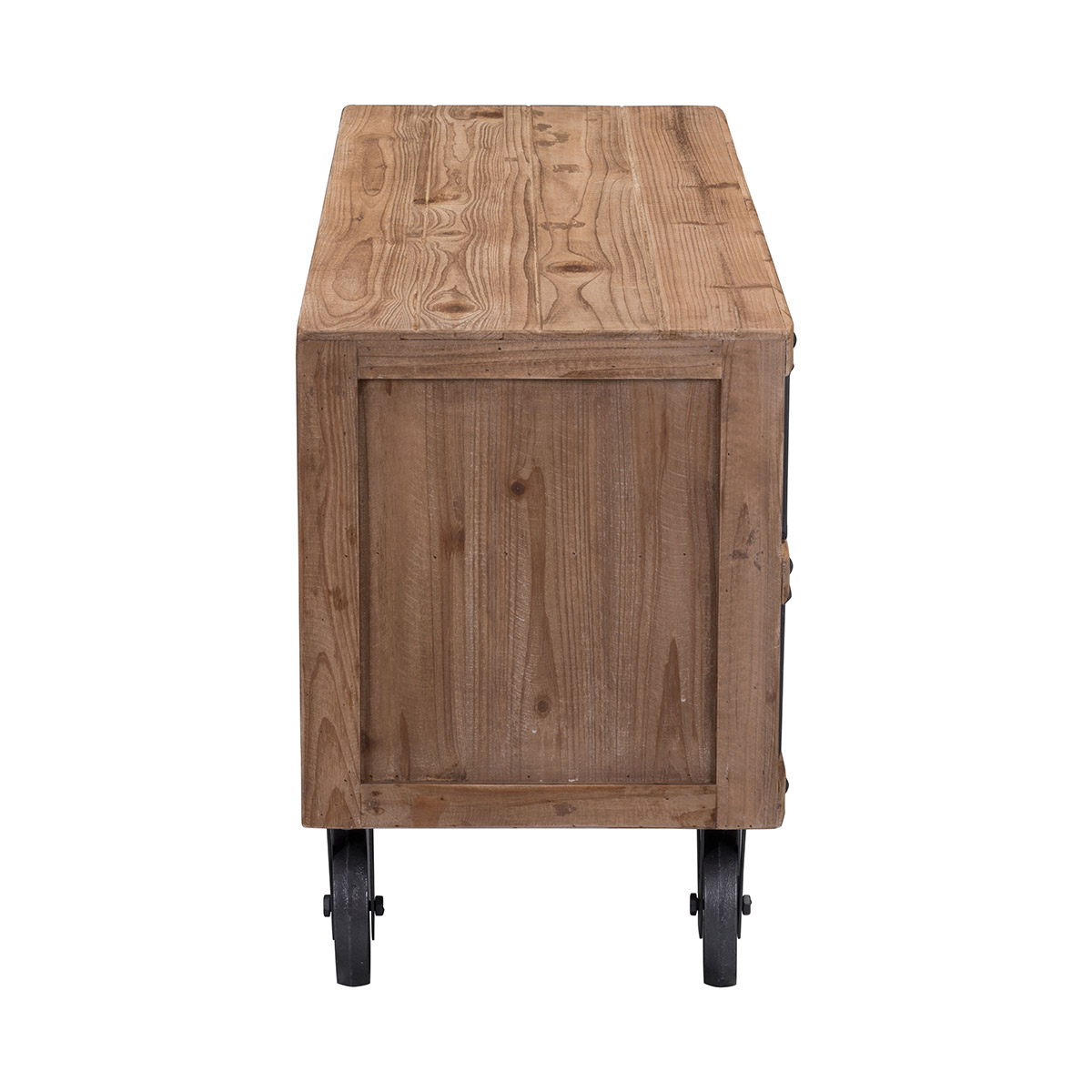 Zuo Era Green Cabinet In Natural Pine Amp Industrial Gray