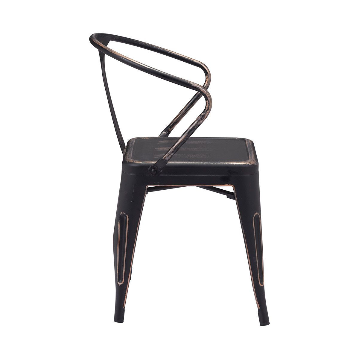 Zuo Era Helix Dining Chair In Antique Black Gold Boost Home