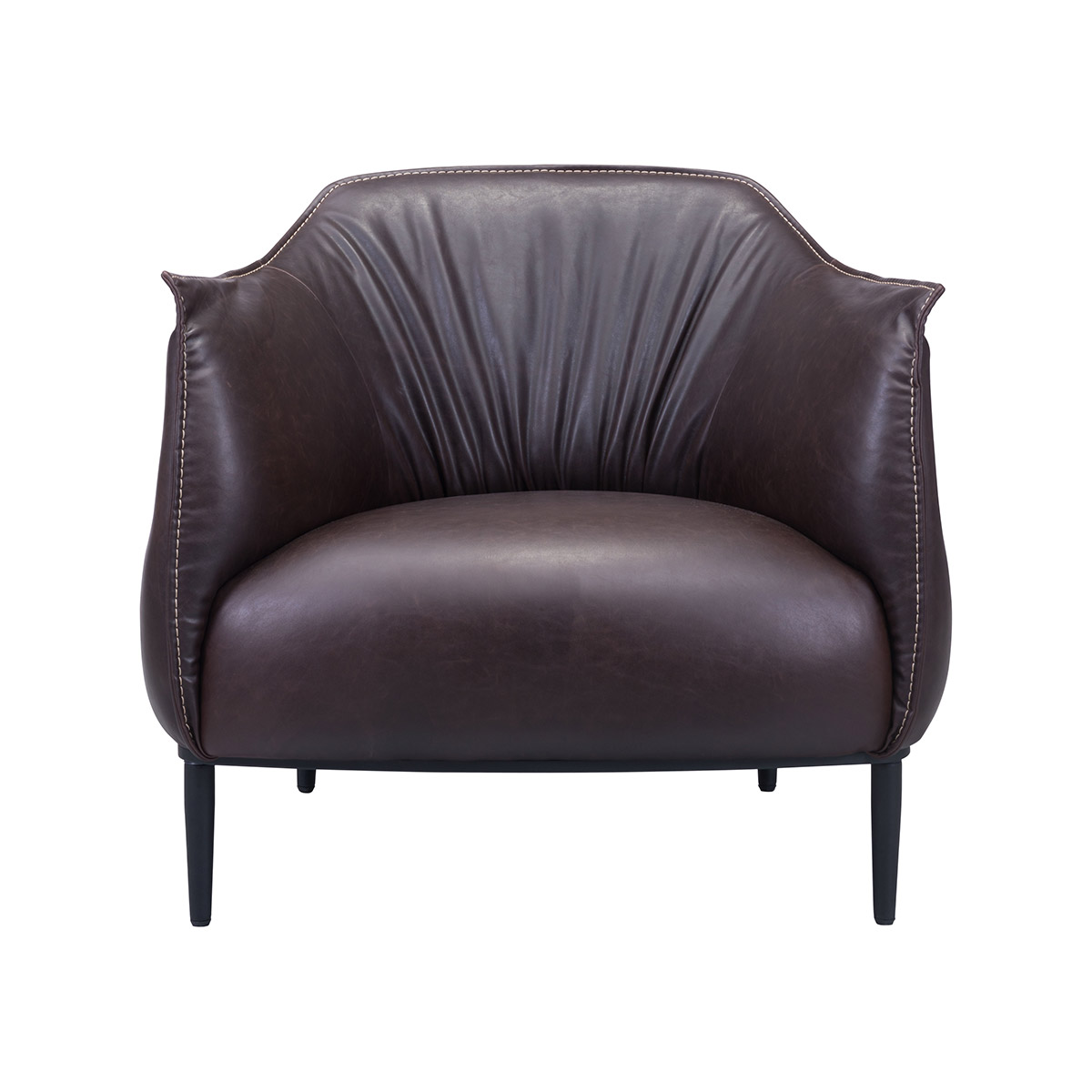 Zuo Era Julian Occasional Faux Leather Chair Espresso