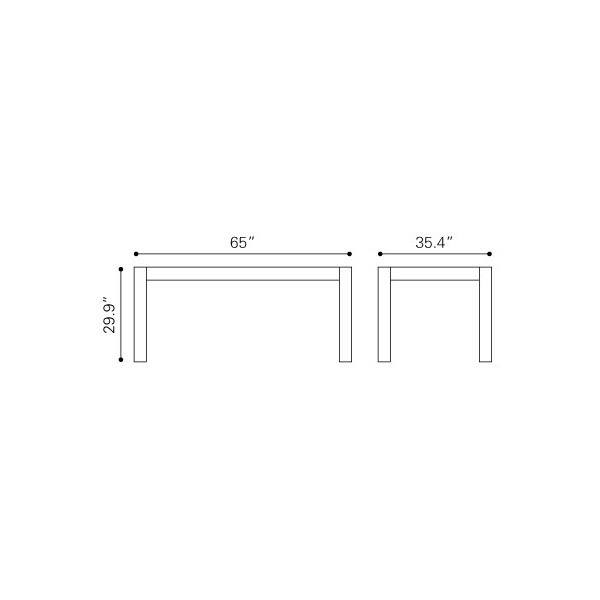 The Product Is Already In Wishlist Browse Zuo Era Lexington Dining Table Natural Elm 100439