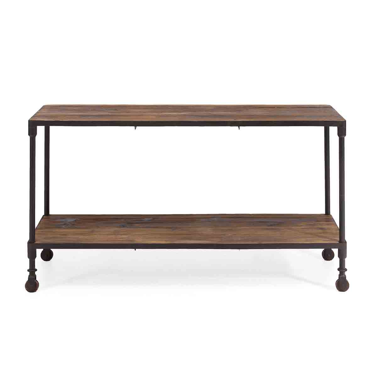 Zuo Era Mission Bay Distressed Natural Wide 2 Level Shelf