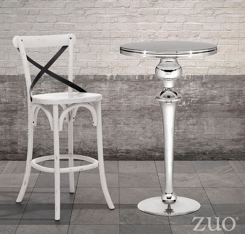 Zuo Era Molokai Bar Table Stainless Steel Boost Home