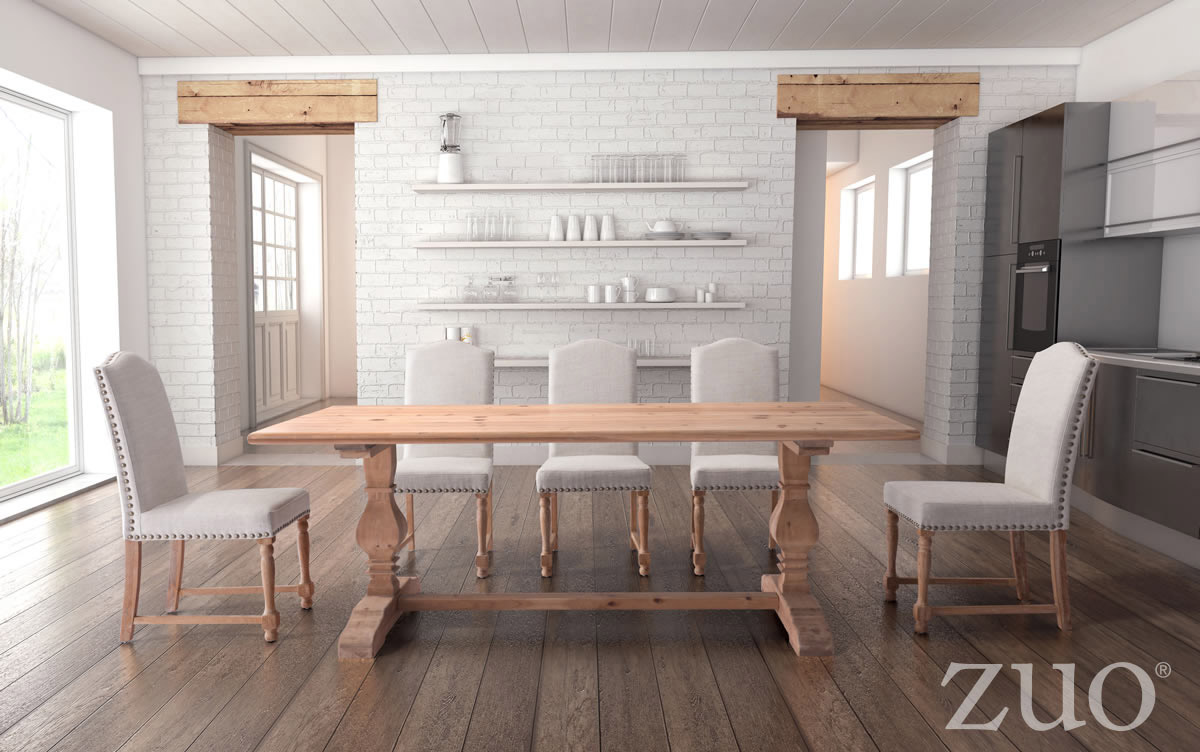 Zuo Era Norfolk Dining Table In Natural Fir