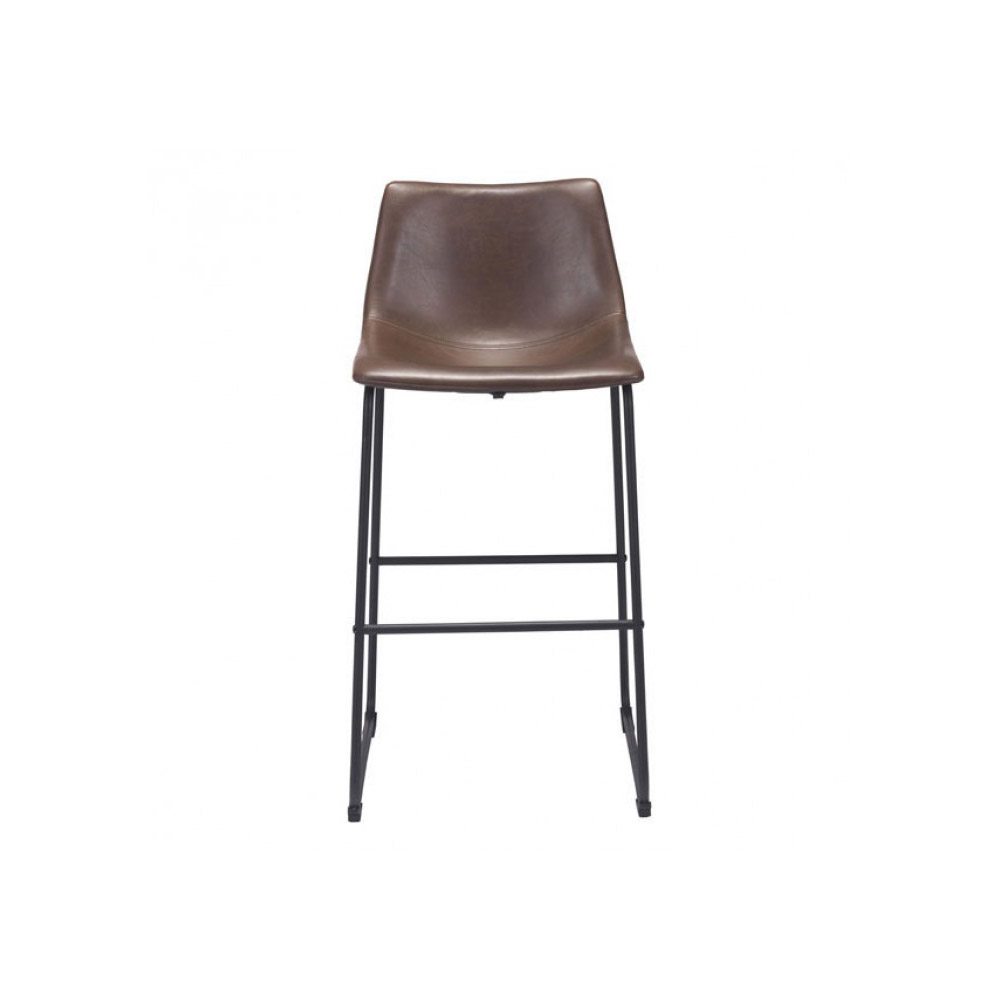 Zuo Era Smart Bar Chair Vintage Espresso Boost Home