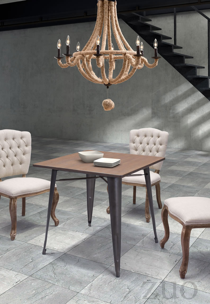 The Product Is Already In Wishlist Browse Zuo Era Titus Dining Table Rustic Wood 109124