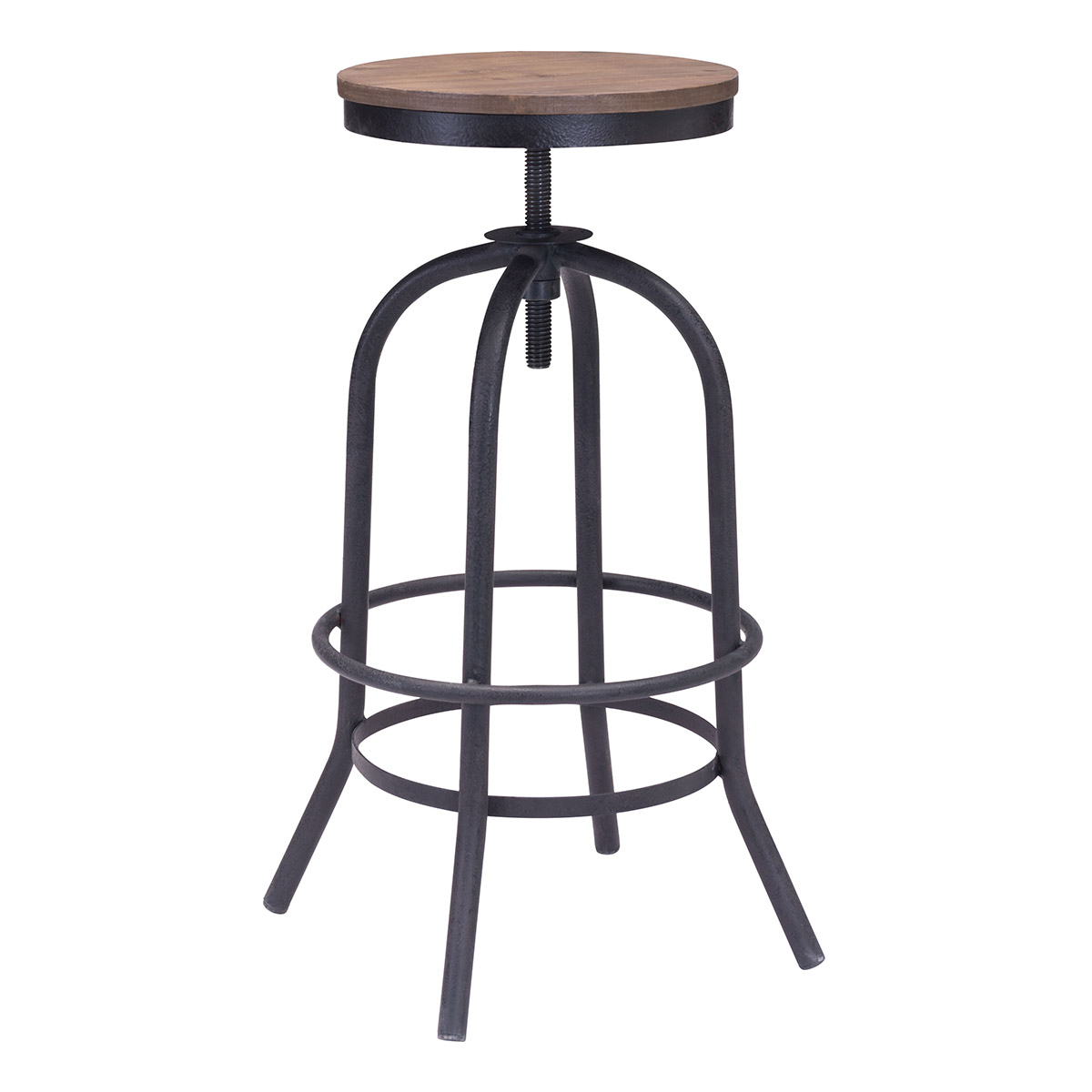 Zuo Era Twin Peaks Barstool Distressed Natural Boost Home