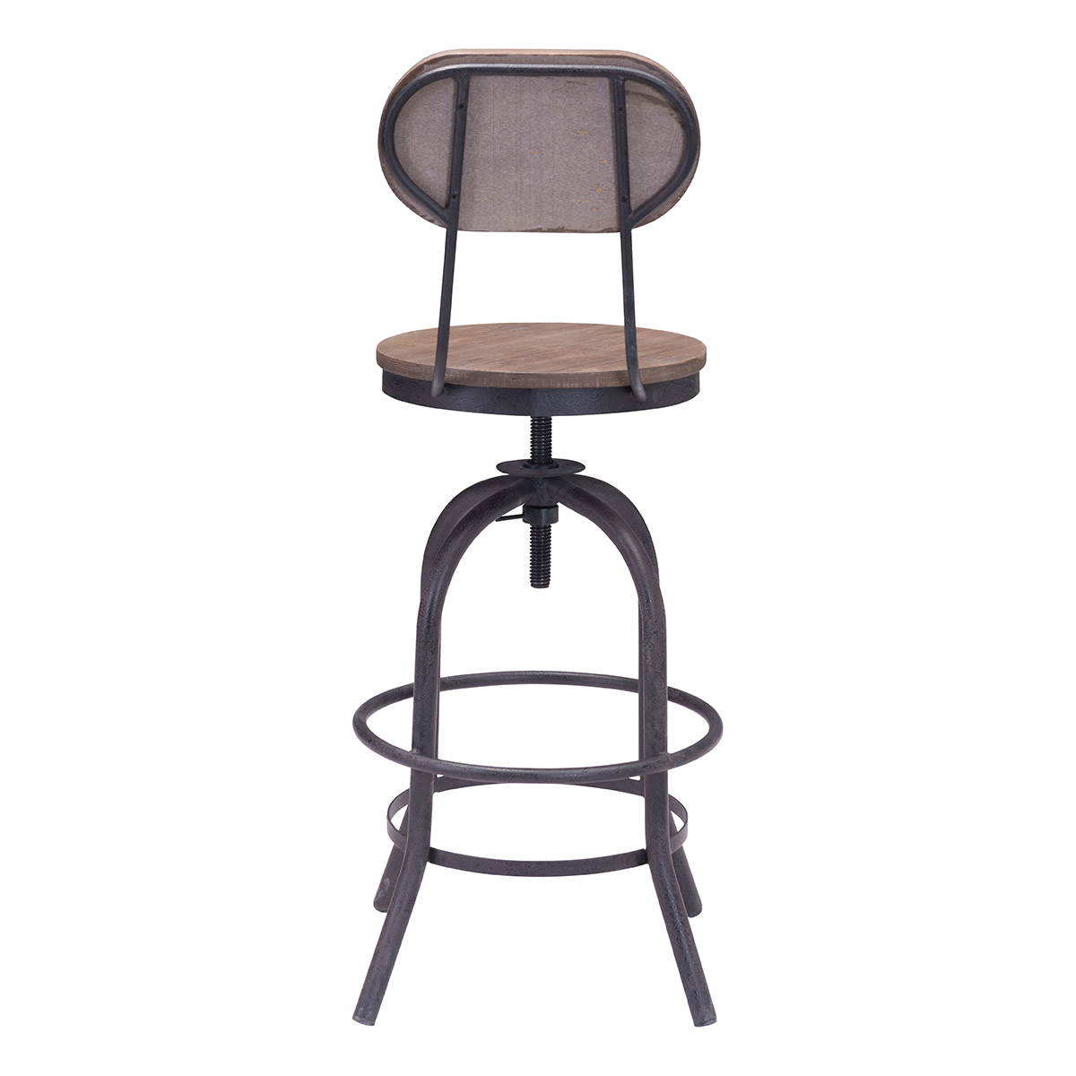 Zuo Era Twin Peaks Counter Chair Distressed Natural