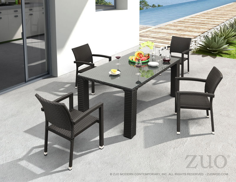 Zuo Boracay Outdoor Dining Chair In Espresso | Boost Home