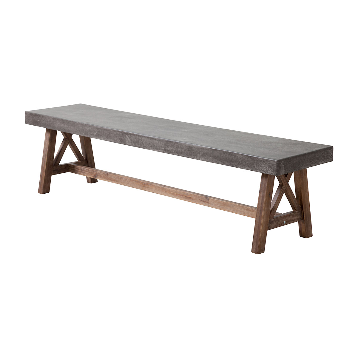 Zuo Ford Patio Bench In Cement Natural Boost Home