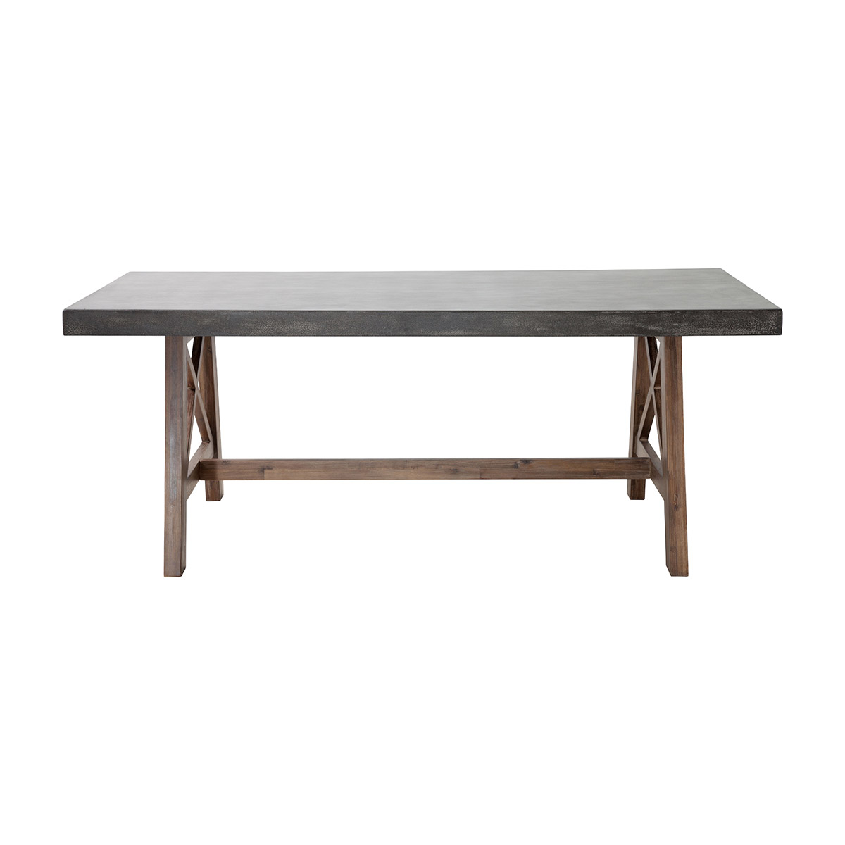 Zuo Ford Patio Dining Table In Cement Natural Boost Home