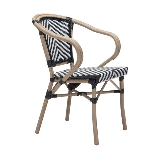 Zuo-Paris-Dining-Arm-Chair-in-Black-White-703802-1
