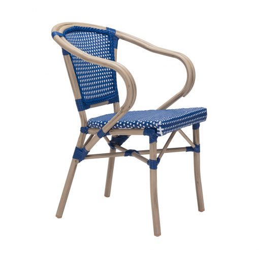 Zuo-Paris-Dining-Arm-Chair-in-Navy-Blue-&-White-703801-1