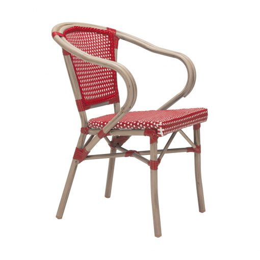 Zuo-Paris-Dining-Arm-Chair-in-Red-&-White-703800-1