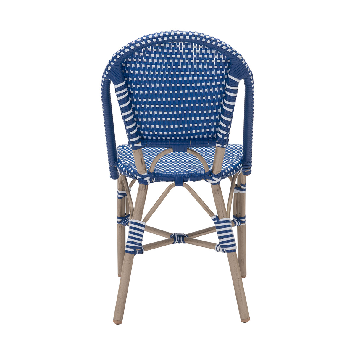 Zuo Paris Dining Chair In Navy Blue Amp White Boost Home