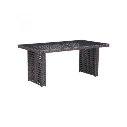 Zuo-Pinery-Brown-Woven-Dining-Table-With-Glass-Tabletop-703515-1