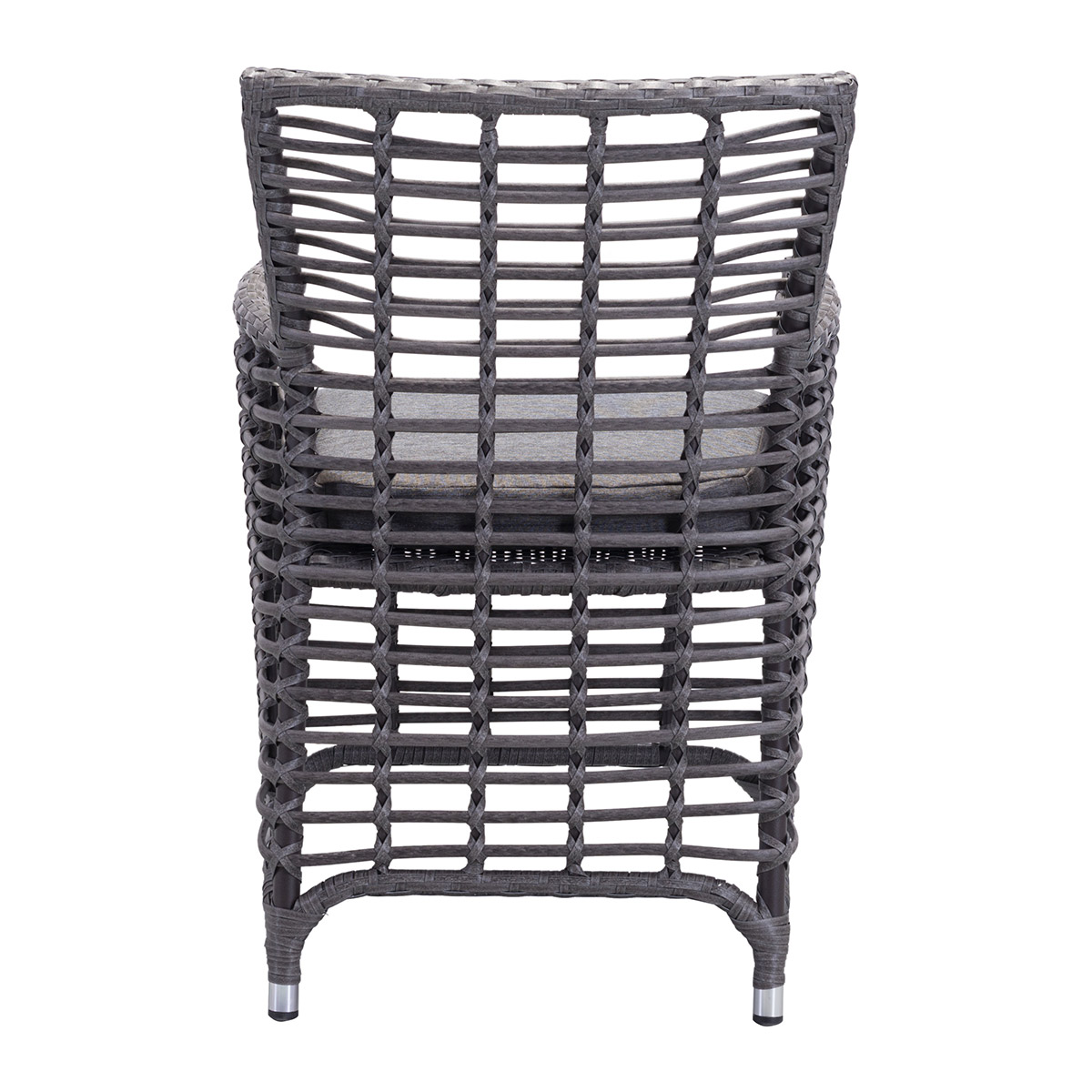 Zuo Sandbanks Sunproof Fabric Outdoor Dining Chair In Gray