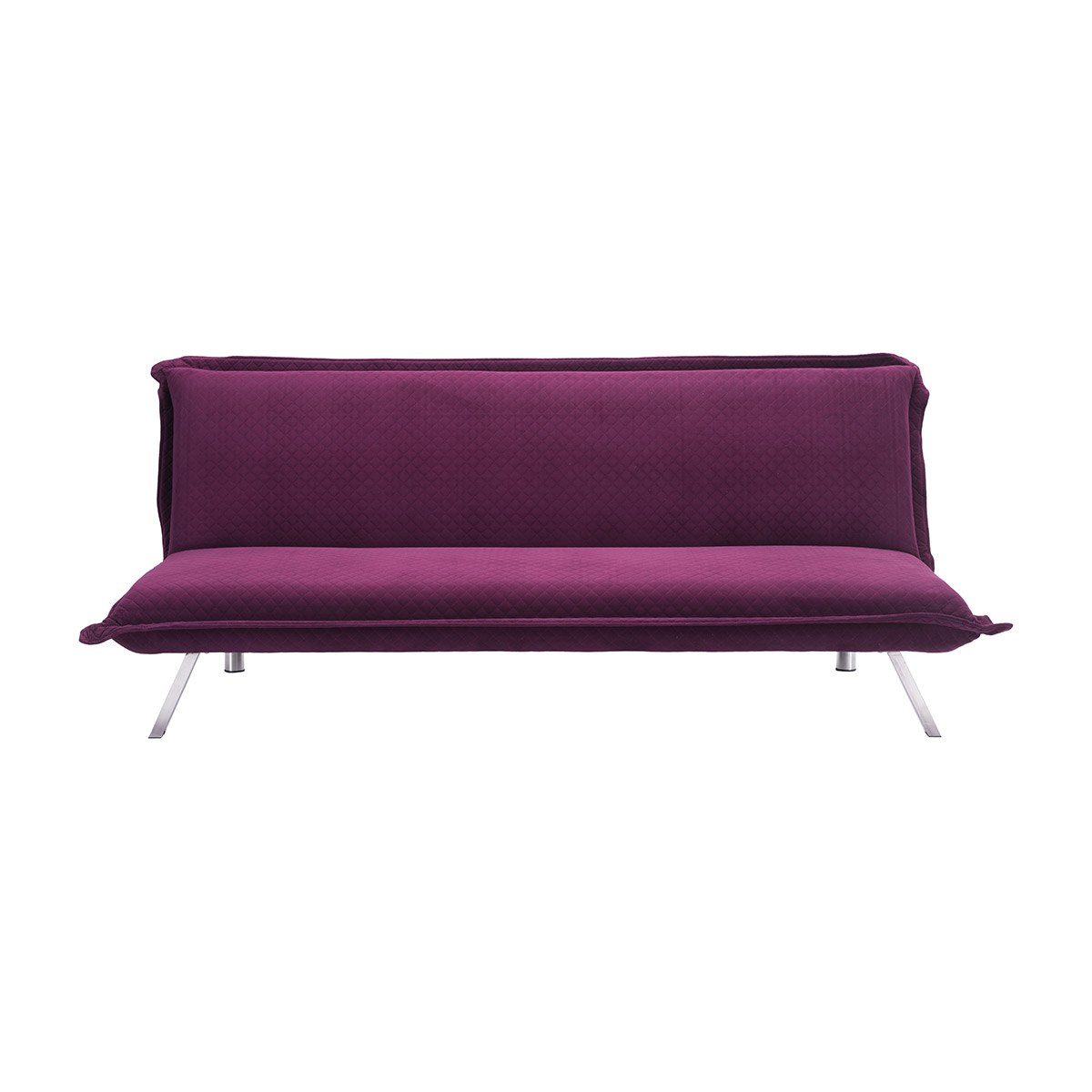 - Zuo Romano Velvet Sleeper Sofa In Quilted Plum Boost Home